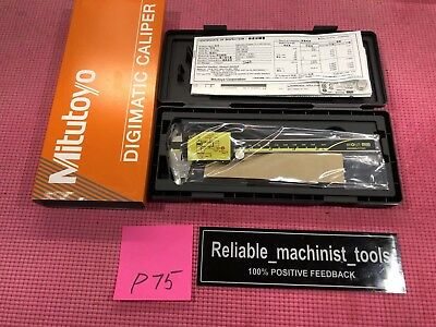 New Mitutoyo Japan Made 6 Inch Absolute Digital Calipermachinist Tool P75