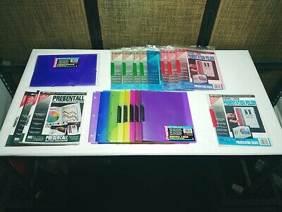 Lot Of 19 Presentation Folders And 1 Document Holder Better Line Assorted Colors