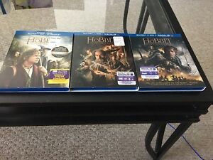 Hobbit complete trilogy Blu Ray 3 movies