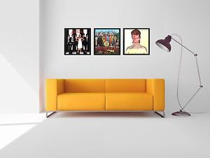 3 frame wall art 12 album display frames vinyl lp record cover sleeve music