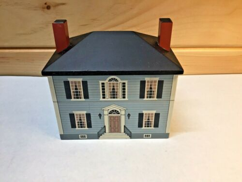 Windfield Designs Center Hall Colonial Recipe Box 1993 GF, NY