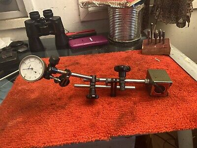 Mitutoyo 7011s Dial Indicator Magnetic Stand Mitutoyo 2046-08 Dial Indicator