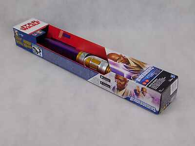 Star Wars Jedi Mace Windu LASERSCHWERT LICHTSCHWERT LEUCHTSCHWERT lila HASBRO