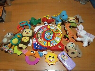 Lot of baby toys, speak and spell, fisher price