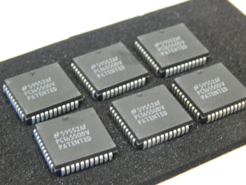NAT PC16550DV Serial I/O Controller 1 Channel 0.1875MBps PQCC44 - LOT OF 6 IC