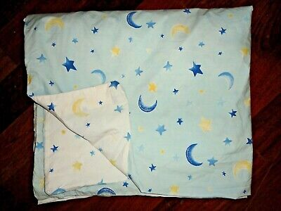 POTTERY BARN KIDS SUN MOON STARS CELESTIAL YELLOW BLUE WHITE TWIN DUVET 68X80