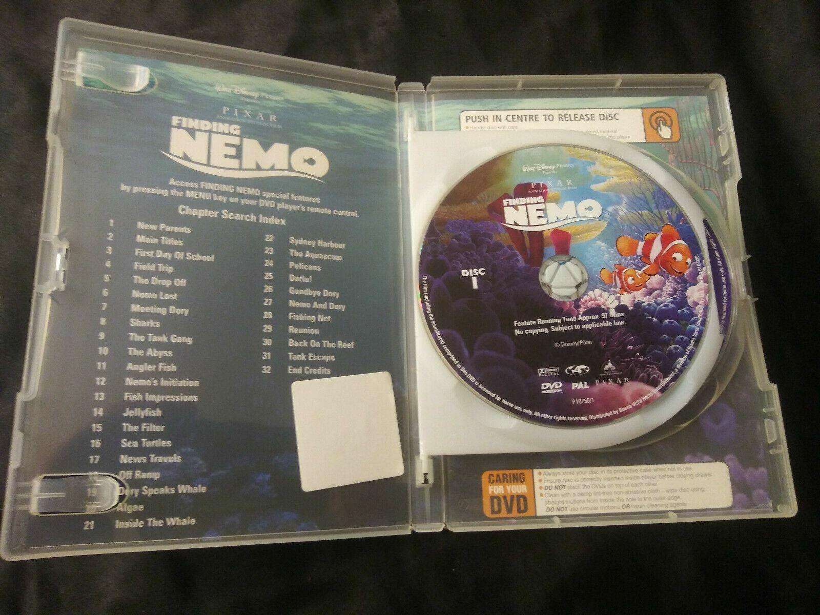 Disney Finding Nemo DVD 2 Disc Collector Edition Pixar Slipcover Walt Kids Set - $8.00