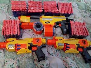 3 Nerf Guns + 600 Nerf Bullets Booval Ipswich City Preview