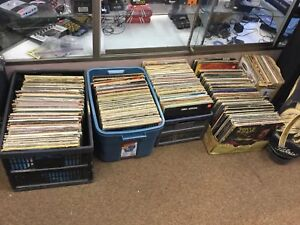 Large assortment of classic rock lps