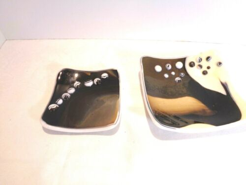 Lot of Two Fused Glass Dishes
