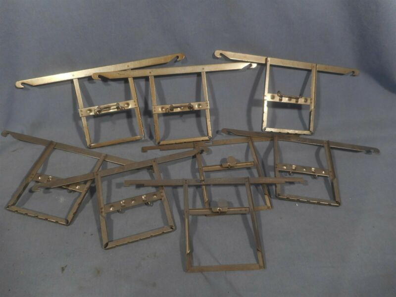 "Lot of 8 Sheet Film Kodak,Carr&other Stainless Developing Hangers 2-1/4""x 3-1/4"""