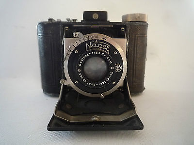 Kamera Fotoapparat Nagel Vollenda Compur  1:3.5 /5 Sammlerstück ca. 1930