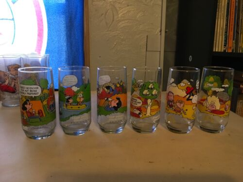 Camp snoopy collection set of 6 glasses
