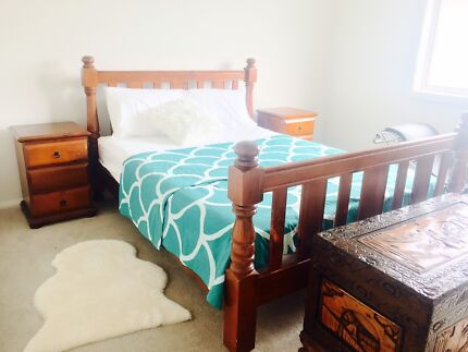 Beautiful Queen Bed with 2 Bedside drawers