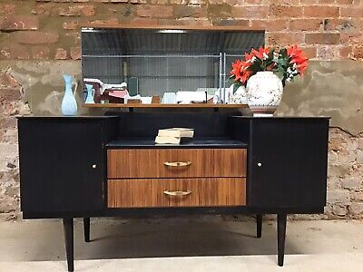 Shabby Chic Black & Teak Dressing Table With Mirror (project)