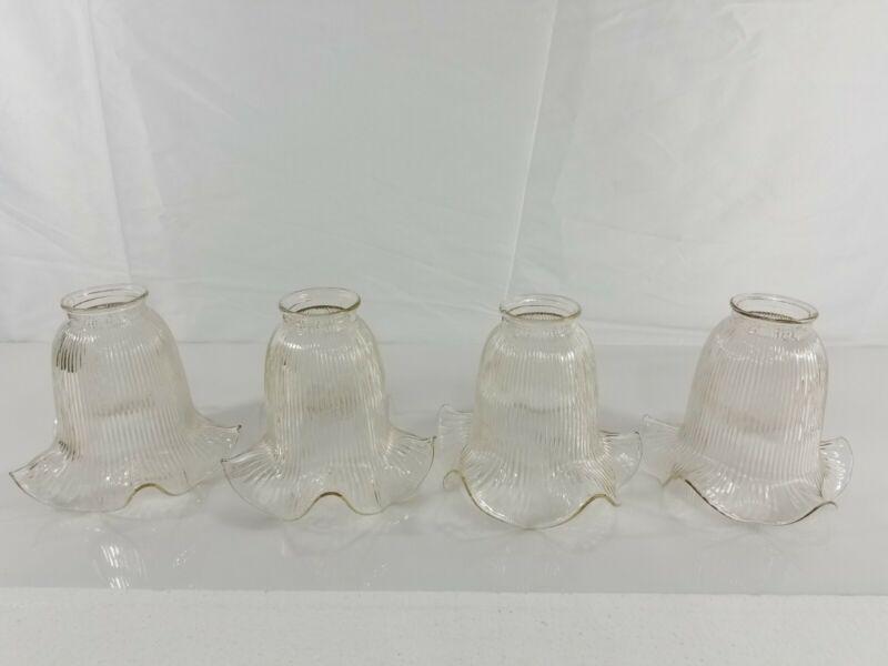 Ceiling Fan Glass Lamp Light Bulb Shade Bell Lense Vintage Antique Glass
