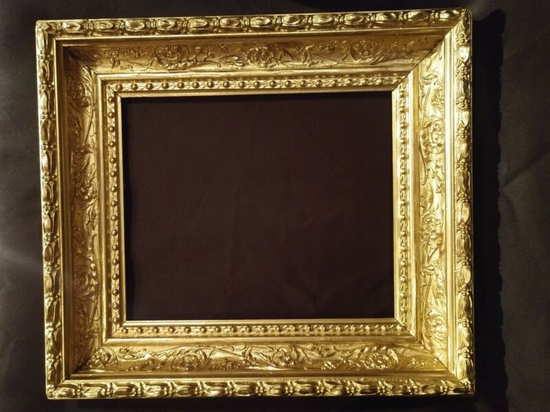 Antique Gold Gilt Wood Ornate Victorian Style Picture Frame