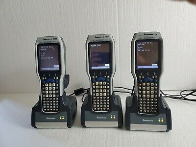 Lot Of 3 Intermec Ck31 Wireless Scanner With Charging Dock Power Supply 05