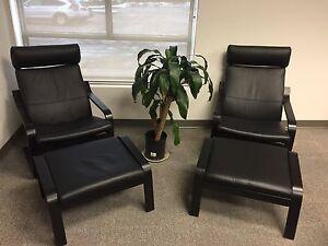 IKEA Poäng Armchair & Footstool