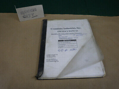 Cronkhite Heavy Duty Trailer Ownersparts Manual Model 500 Through 9000