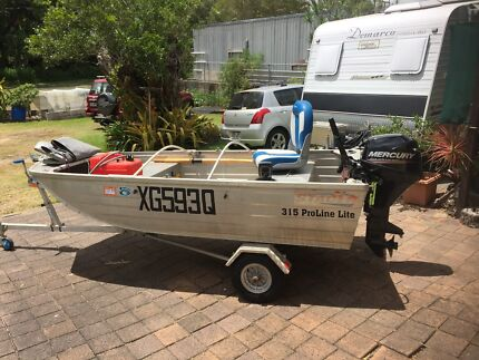 3.1 stacer mercury 9.9 4 stroke no trailer great car topper