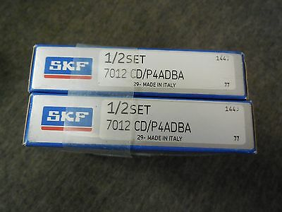 Skf 7012 Cdp4adba Super Precision Bearing Set New