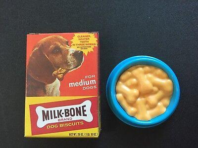 VTG TIKES FISHER PRICE PLAY GROCERY TOY ● DOG MILK BONE BOX ● BOWL PET FOOD RARE