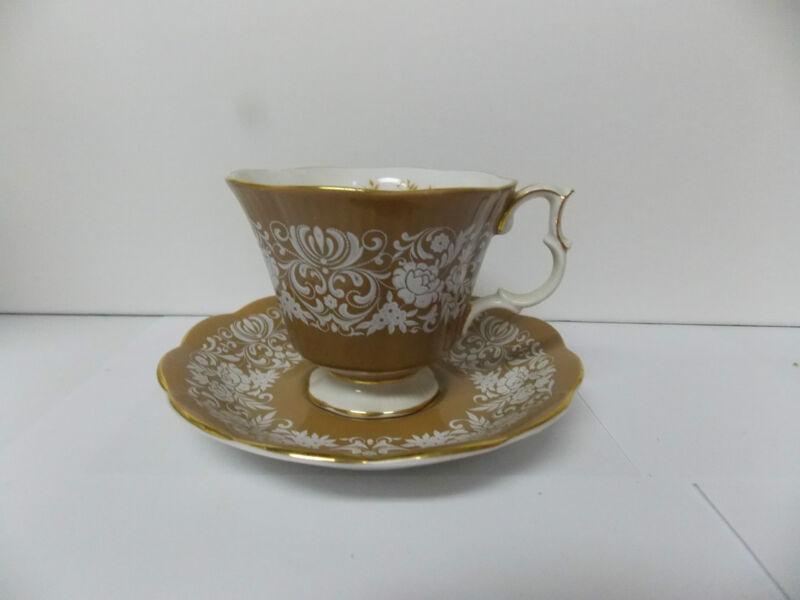 Royal Albert Bone China  Florentine Series Cup and Saucer Set Tan / Brown