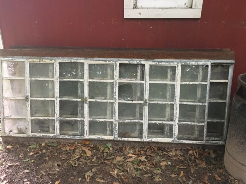 Reclaimed Vintage Industrial Steel Factory Window Architectural Salvage