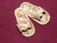 Vintage 1980 Fijian Dolls Woven Reed Sandals NEW Greenwood Joondalup Area Preview