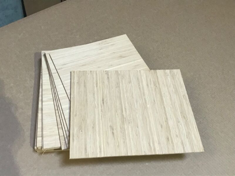 """Bamboo Plywood, Boards, Lumber 1/4""""x12.5""""x16"""" 5 ply, Carbonized vertical"""