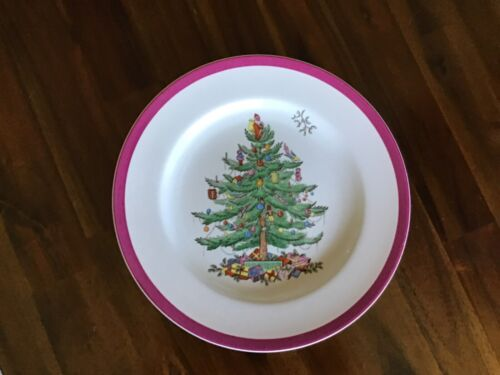 Spode CHRISTMAS TREE (RED Wine TRIM) Dinner Plate 677463