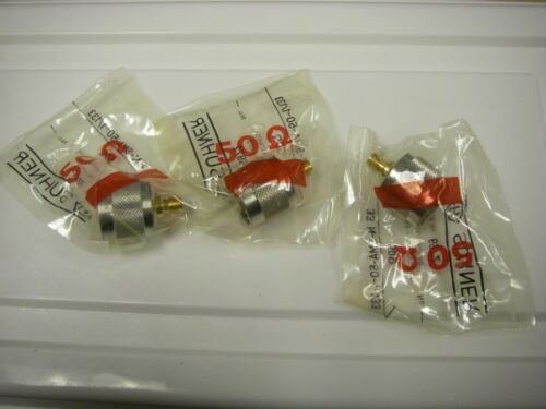 Suhner Gold plated Type N male to SMA female