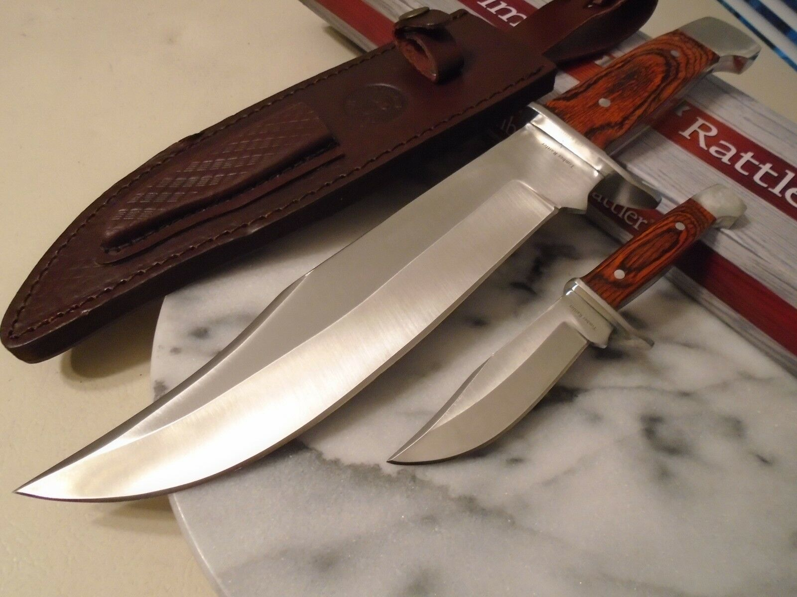 Timber Rattler Big Duo Hunter Bowie Combat Knife/Knives 2Pc