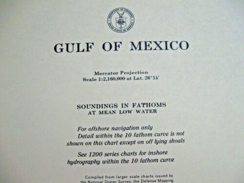 NAUTICAL NAVIGATIONAL CHART #1007 - GULF OF MEXICO