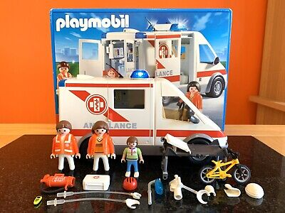 Playmobil Hospital City Action 4221 Emergency Ambulance, Box, 99% Complete