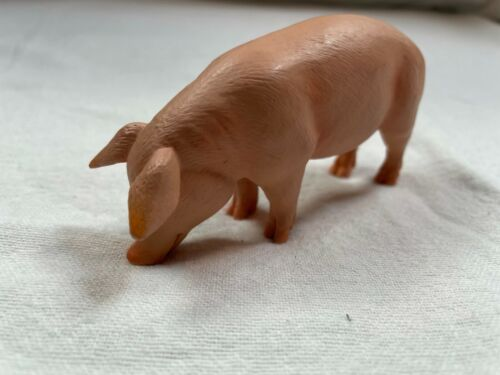 """4"""" Mojo Brand 2020 Made in China Pink Pig Toy Figure Figurine Farm Animals"""
