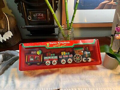 Vintage 1987 DAKIN Train Set Daisy Kingdom Holiday Express Christmas New RARE