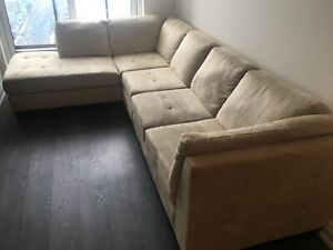 Sectional Couch - Beige