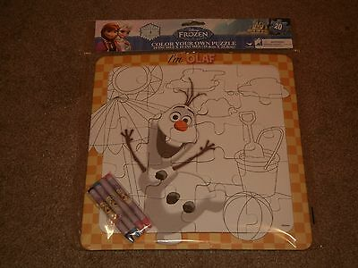 Disney Frozen Olaf Color Your Own Puzzle  Toys  Games  Collectibles  New