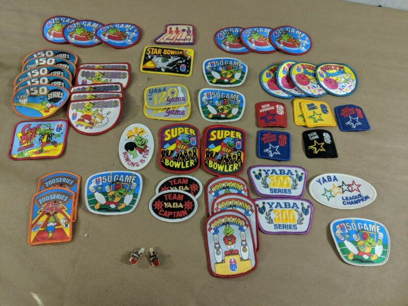 YABA Young American Bowlers Association 49 bowling patch VTG Embroidered Lot i9