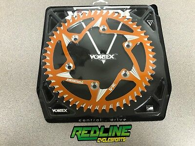 Vortex KTM  250 350 450 SX SXF XCF ORANGE aluminum rear sprocket 51 teeth