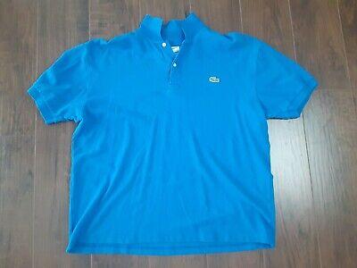 Lacoste Men's Polo Shirt Size 8 Blue 2XL Excellent Condition.