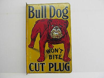 Bulldog tobacco sign - original 1930's era flange sign