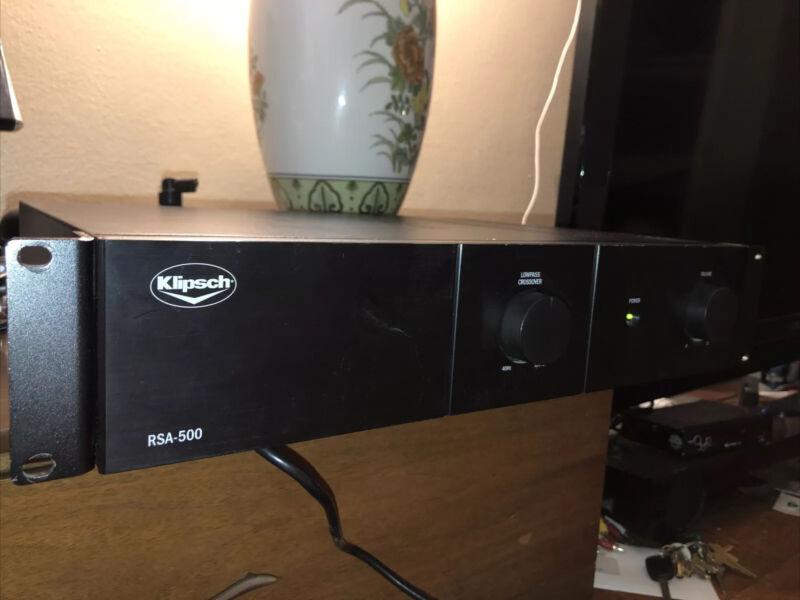 Klipsch Rsa-500 Sub Amp, 300 watts Finnish black