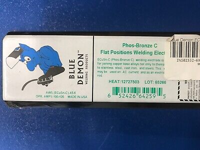 Blue Demon Phos-bronze C Welding Rods 18 By 14 New In Boxs