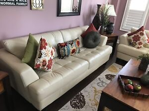 Cindy Crawford  Pure leather  Couch & love seat