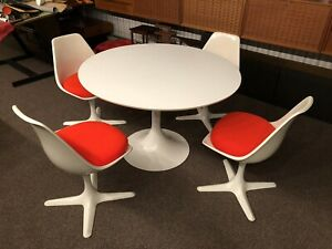 Mid-century dining table and chairs