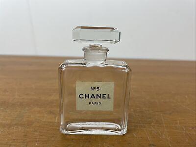 "Vintage Perfume Bottle Chanel No 5 Bottle 1 OZ Open/Empty - 3"""