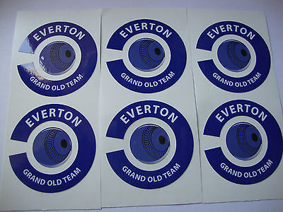 NEW  EVERTON 16 CROWN GREEN BOWLS STICKERS 8FINGER + 8 THUMB FLAT & INDOOR BOWLS